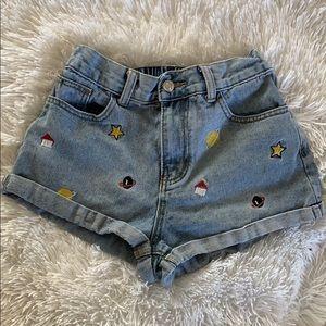 SHEIN Denim Planet Shorts